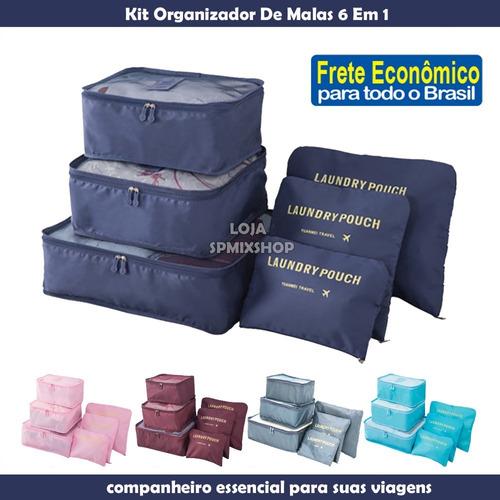 Kit 6 Necessaire Organizador Bolsa Viagem Mala Frete Barato