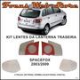 Kit Lentes Lanterna Traseira Spacefox 2003 A 2009 6 Peças