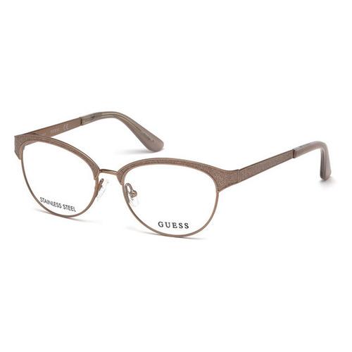 bfae2b9bc Guess Gu2617 029 Dourado T51 Óculos De Grau. R$ 740.11