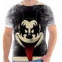 Camisa Camiseta Desenho Mickey Mal Black Preta Linda Criança