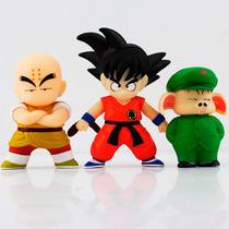 Conjunto 3 Bonecos Dragon Ball Goku Kuririn E Oolong