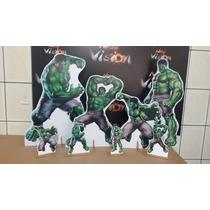 Kit Cenário Display De Chão Hulk Com 8 Peças!!!