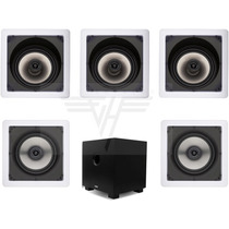 Kit 5.1 Caixa De Embutir Gesso Loud Sl6100 + Sq550 + Sub200w