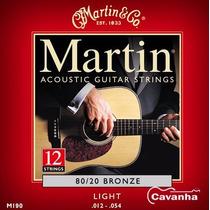 Encordoamento Violão Martin Aço 80/20 Bronze 12 Cordas (012)