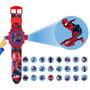 Relógio Homem Aranha Projetor De Luz Com 24 Imagens Infantil