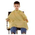 Capa P/ Corte De Cabelo Infantil Nylon Cor Branco C/ Velcro
