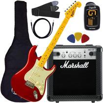 Kit Guitarra Tagima Tg530 +kit Marshall Oferta Goias Musical