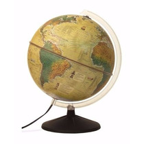 Globo Terrestre Histórico Luminoso, Abajur - 30cm Diâmetro