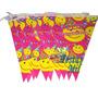 Bandeirinha Feliz Aniversário Smile - 3 Metros