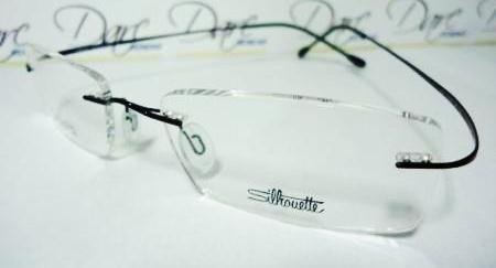 Armação Oculos De Grau Silhouette Sem Aro Titanium Preto 52c6587767