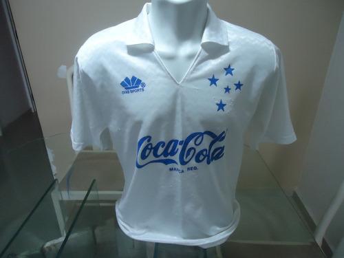 Camisa Cruzeiro Diasports Coca-cola - Anos 80 90   10 - (420 9b00e64932eda