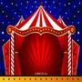 Fundo Fotográfico Em Tecido Tema Circo ( 150 Cm X 200 Cm)