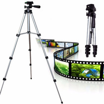 Tripé 1,20m Câmera Digital Canon Nikon + Suporte P/ Celular