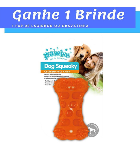 Brinquedo Mordedor Osso P/ Cães Com Apito Pawise