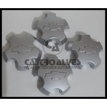 Calota S10 Gm Rodeio Executive Blazer Prata 2010 = Kit 4 Pçs