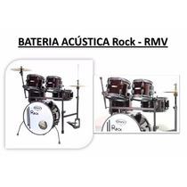 Bateria Acústica Rock Vermelha - Rmv - A Pronta Entrega