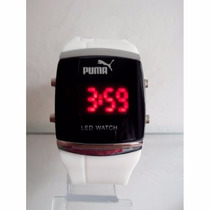 Relógios Led Puma Digital Iluminado Com Pulseira Silicone