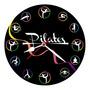 Relógio De Paredes Quartzo Silencioso Decorativo Pilates 30c Original