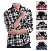 Camisa Flanela Masculina Pronta Entrega Xadrez Estampas