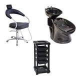 Cadeira Futurama Aluminio+carrinho Sta Clara + Lavatório