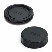 Par Tampa Logo Nikon Corpo + Lente D5000 D5100 D5200 D5300