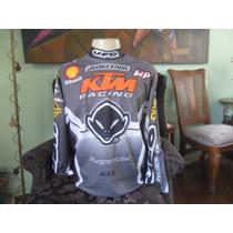 Camisa Equipe Ktm Motocross Original Piloto Patrick Caps