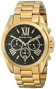 8ba2c5236 Relógio Michael Kors Mk5739 Dourado Fundo Preto