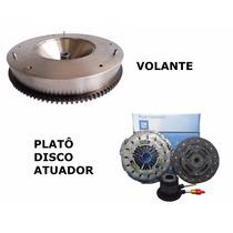 Volante Do Motor + Kit Embreagem S10 28 Blazer 2.8 4x4 Mwm