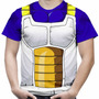 Camiseta Masculina Dragon Ball Z Vegeta Fantasia Total Print