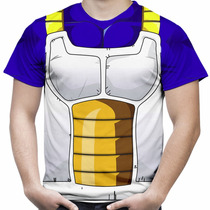 Camiseta Masculina Vegeta Camisa Dragon Ball Fantasia