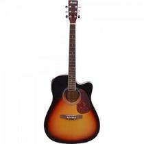 Violão Eletroacústico Folk Aço Md-18 Sunburst Memphis By