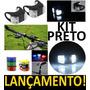 Kit Segurança Farol Lanterna Bike 2 Leds 2 Peças - Pretos !!