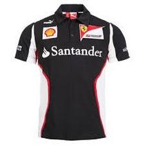 Camisa Pólo Ferrari Preta F1 Automobilismo