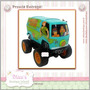Scooby Doo Van Carrinho Off Road Máquina Mistério Luz E Sons