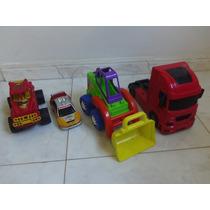 Kit Maquina E Caminhão De Brinquedo Plástico