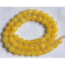 Jade Amarelo Ouro Bola Esfera Facetada 8mm Teostone 1748