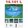 Piscina Intex 14141 Litros Completa Filtro Capa Forro Escada
