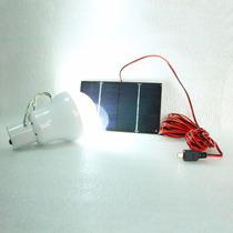 Lâmpada Solar + Placa Solar + Bateria Recarregável Interna