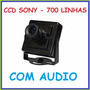 Mini Camera Day Night Ccd 1/3 Sony 700l Elevador 1.9mm 320