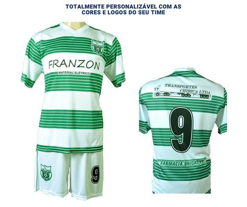 083b111562 Kit 10 Camisas Time Futebol Society Futsal Personalizadas. Preço  R  459  Veja MercadoLibre