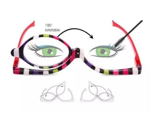 5d7ff28195012 Óculos Maquiagem Lente Móvel Make + 2.5 Rotação 180º Graus - R  58 ...