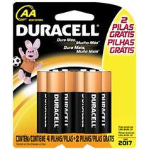 Pilha Aa 4+2 - Duracell
