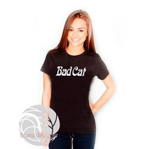 Camiseta Feminina Bad Cat - Personalizada