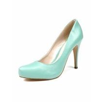 Sapato Scarpin Salto Alto 10 Cm Laranja *elegante *