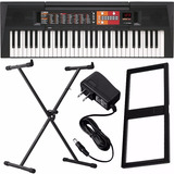 Kit Teclado Musical Yamaha Psr F51 61 Teclas Fonte E Suporte