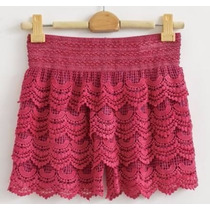 Short Saia Renda, Tule, Croche, Guipir, Gripir,varias Cores,