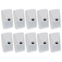 Kit 10 Sensores Presença Microondas Ideal P Área Semi Aberta
