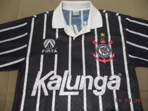 5385c71275 Camisa Preta Corinthians 1992 - Oficial Finta   Kalunga - P