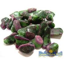Rubi C/ Zoizita Unid. 2cm Pedra Gema Natural Polida Coleção