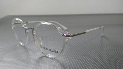 Armação Óculos Redondo Transparente Giorgio Armani 5e79cfaca2